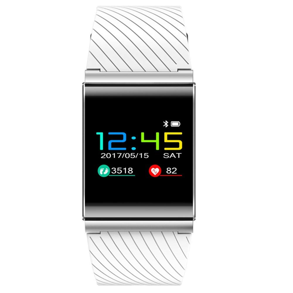 ZXMZNSH Smart Bracelet Activity Tracker Podómetro Pulsera Deportiva Presión Arterial Monitoreo del Ritmo Cardíaco Touch Blue Bluetooth GPS Posicionamiento