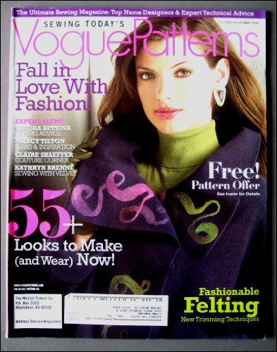 Vogue Patterns October/November 2006 Baroque Fashion Glamour, Hobo Bag, Making Hats, Classic Jackets, Felting ()