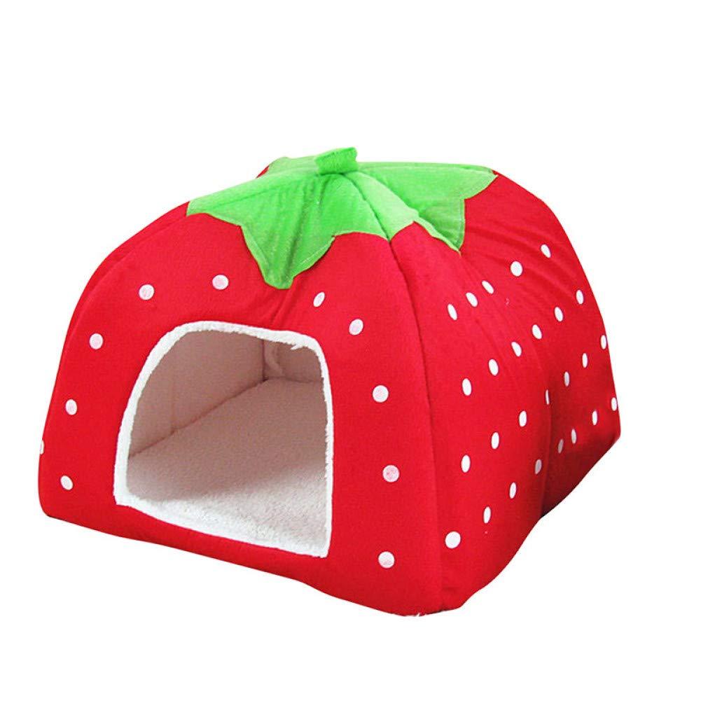 Red CZHCFF Winter pet supplies warm soft dog house pet sleeping bag dog kennel puppy cat bed cat house with lid