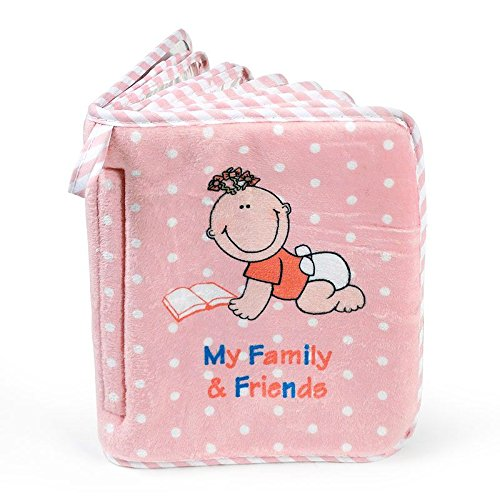 Baby Girl's First Photo Album of Family & Friends - Holds 15 Photos! Genius Babies Inc. GB-511