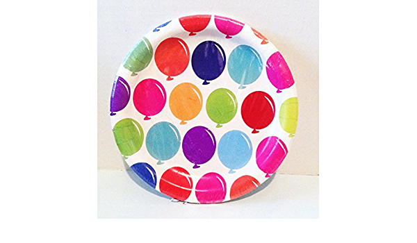 Free Shipping! Spirtz RAINBOW Small Paper Snack Plates:10 Count:New