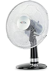 NETTA Oscillating Fan, – Black/Silver