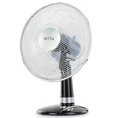 NETTA Oscillating Fan, – Black/Silver