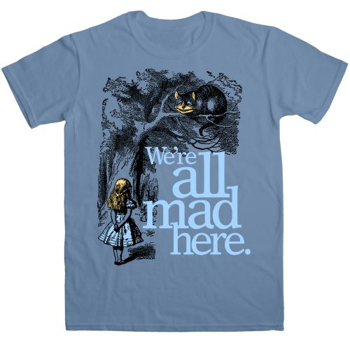 Mens T Shirt - We're All Mad Here - 8Ball Originals Tees