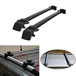 AUXMART Roof Rack Cross Bars For 2011~2016 Jeep Compass With Vertical Side  Bars (Pack Of 2)   132LBS / 60KG Capacity