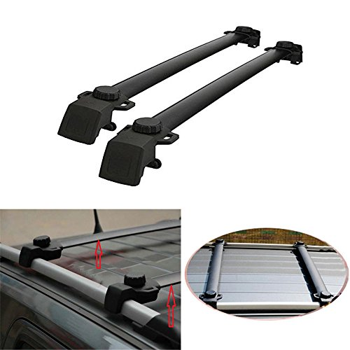 AUXMART Roof Rack Cross Bars for 2011~2016 Jeep Compass with Vertical Side Bars (Pack of 2) - 132LBS / 60KG Capacity