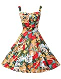 Search : GRACE KARIN Women's Printed 1950's Vintage Retro Cocktail Party Dresses CL6092