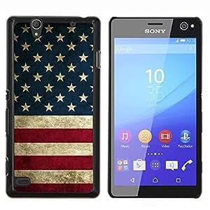 Stuss Case / Funda Carcasa protectora - Bandera de los Estados Unidos Rojo Azul Blanco - Sony Xperia C4
