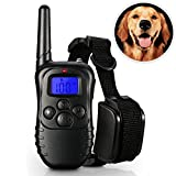 KanCai Rechargeable and Rainproof 330 yd Remote Dog Training Collar with Beep, Vibration and Shock Electronic Electric Collar