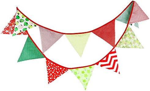 Banderines de tela de 3,3 m con 12 banderines triangulares de ...