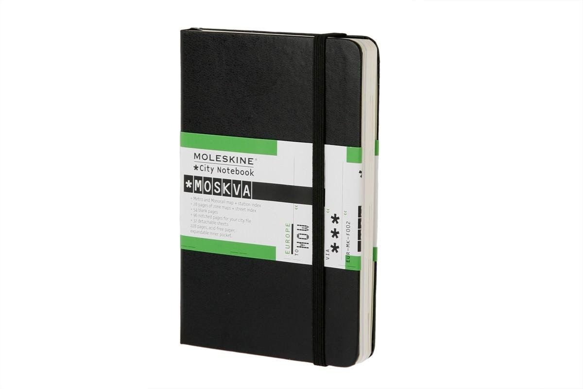 Moleskine City Notebook - Moscow, Pocket, Black, Hard Cover (3.5 x 5.5)
