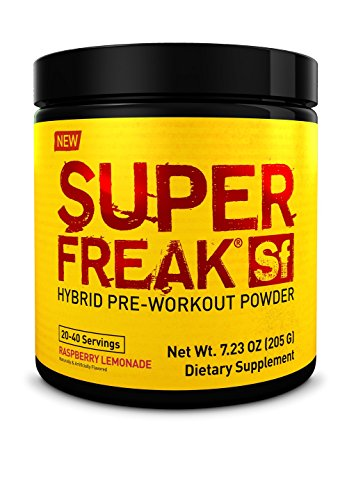 PharmaFreak Super Freak - Hybrid Pre-Workout Powder - SUSTAINED ENERGY NO CRASH - BEST TASTING - Raspberry Lemonade