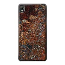 R2714 Rust Steel Texture Graphic Printed Case Cover For Sony Xperia Z3