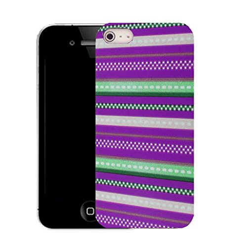 Mobile Case Mate IPhone 5S clip on Silicone Coque couverture case cover Pare-chocs + STYLET - purple stripey pattern (SILICON)