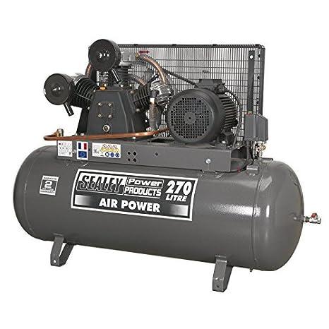 Sealey SAC32775B compresor Disco Cinturón, 7,5 hp, 270 litros: Amazon.es: Bricolaje y herramientas