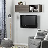 South Shore Furniture City Life Wall Mounted Storage Unit, Gray Maple
