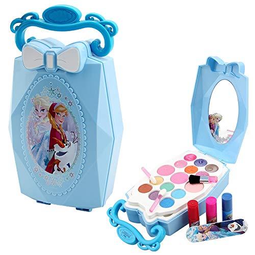 (Elsa Anna Princess Makeup Frozen Toys Makeup Kit Girls Makeup kit Water Soluble Cosmetic Case)