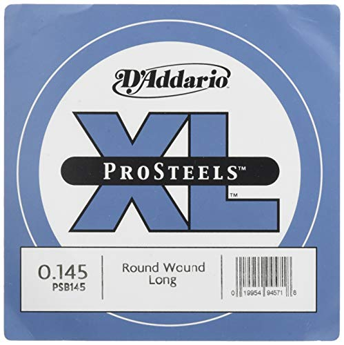 D'Addario PSB145 ProSteels Bass Guitar Single String, Long Scale, ()