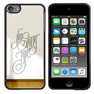 """Be-Star Único Patrón Plástico Duro Fundas Cover Cubre Hard Case Cover Para iPod Touch 6 ( Diferente Tipografía"""" )"""