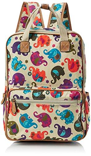 SwankySwans Womens Noni Elephant Backpack Handbag Beige (Beige)