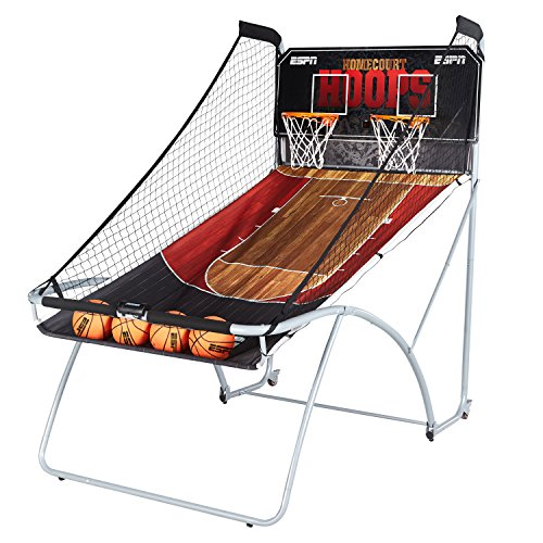 ESPN EZ Fold Indoor Basketball Game for 2 Players with LED Scoring and Arcade Sounds (6-Piece Set) (Indoor Arcade Basketball)
