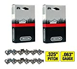 2 Pack, Oregon 22LPX081G 20' Stihl Chainsaw Chain Loops, 81 Links, .325' Pitch x .063' Gauge,...
