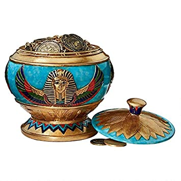Design Toscano Pharaohs Treasure Offering Vessel