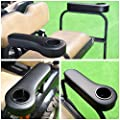 AW 2pcs Universal Golf Cart Armrest Cushion with Cup Holder PU Covered Compatible with Club Car Rear Seats Accessories