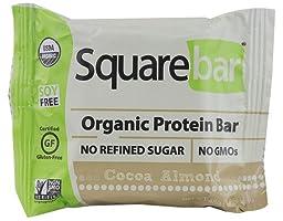 Squarebar Organic Protein Bar Cocoa Almond -- 1.7 oz