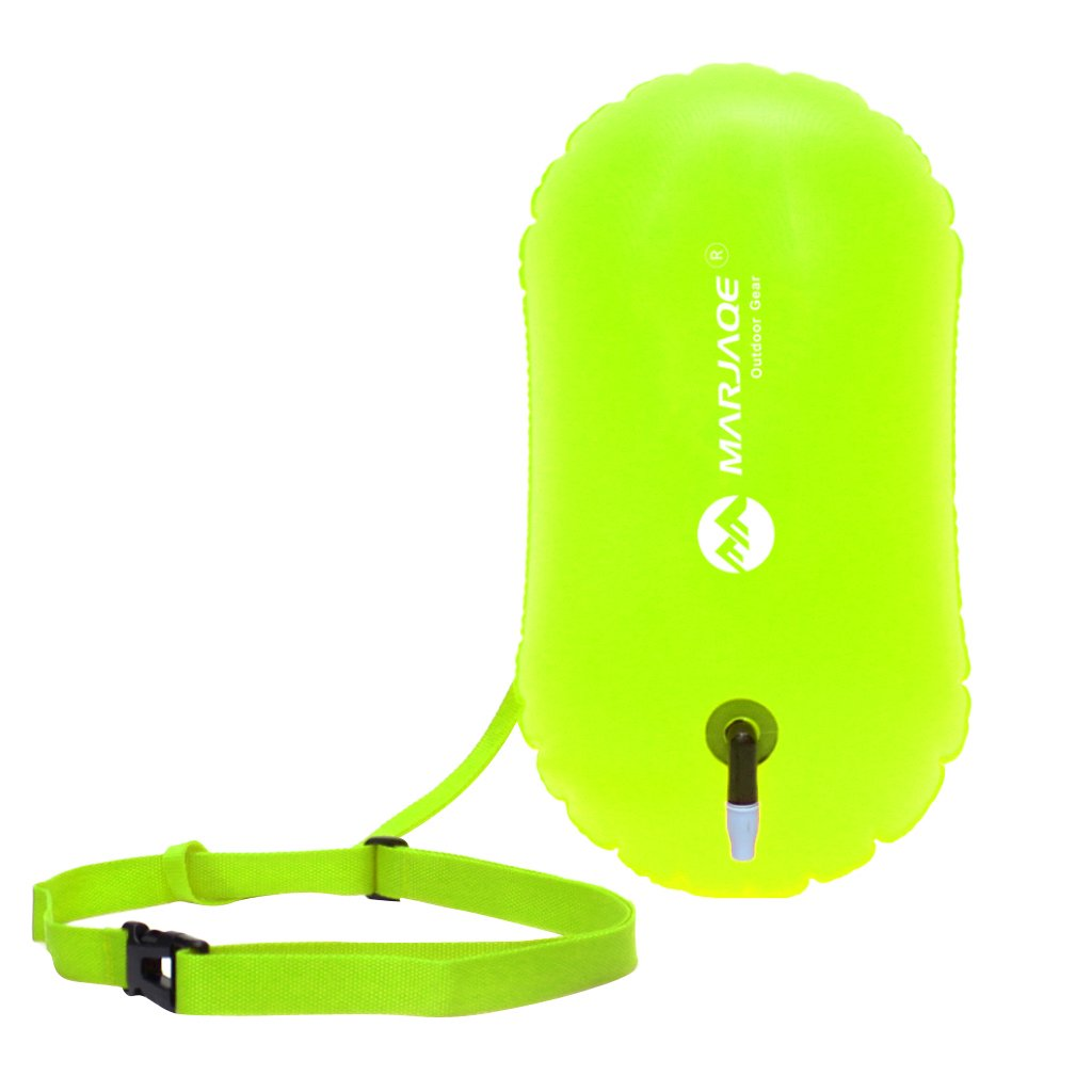 Baosity 2Pcs Waterproof PVC Swim Buoy Tow Float Air Bag Inflatable Swimming Bag with Waist Belt - Lightweight & Highly Visible by Baosity (Image #5)