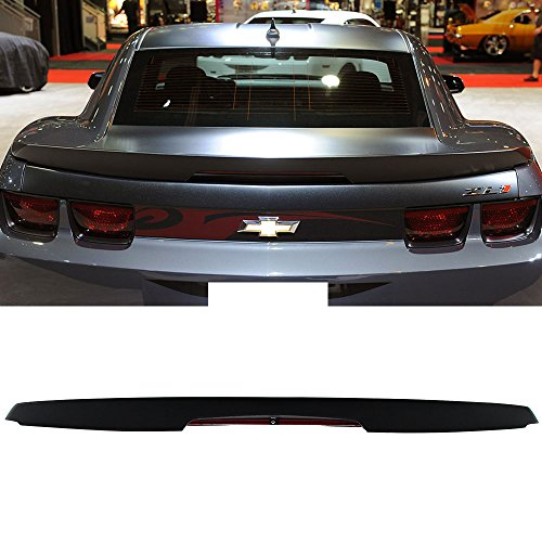 Pre-painted Trunk Spoiler Fits 2010-2013 Chevy Camaro | ZL1 Style Painted Matte Black ABS Boot Lip Rear Spoiler Wing Add On Deck Lid Other Color Available By IKON MOTORSPORTS | 2011 2012