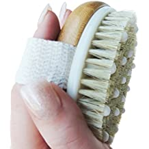 Anti Cellulite Exfoliating Brush. Dry Brushing Home Treatment for Reducing Cellulite, Removing Dry Skin, Ingrown Hair. Body Scrub for Skin Tightening. Natural Boar Bristles W/ Massagers & Long Handle