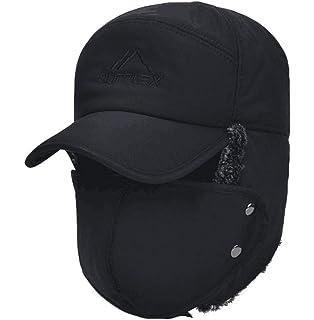 5e63ab860558b YAKER Men s Winter Warm Woolen Peaked Baseball Cap Hat with Earmuffs Metal  Buckle