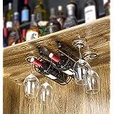 Wine Rack Wine Cup Holder Ornaments Wine Wine Glass Shelf Hanging Upside Down Upside Down Bar Frame Goblet Glass Frame ( Color : Blue , Size : XL )