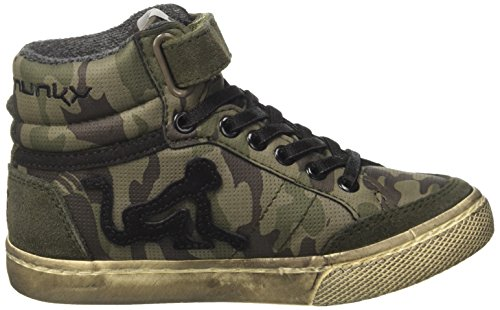 DrunknMunky Alto a Bambino Military Verde Boston Collo Green Camu Sneaker XtrFwXq