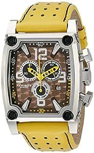 Akribos XXIV Hombre ak415yl Conqueror Amarillo de cuarzo suizo reloj cronógrafo