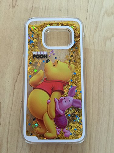 (Galaxy S7 Case Winnie The Pooh Bling Sparkle Liquid Glitter Quicksand Case For Samsung Galaxy S7 Ship From NY 1)