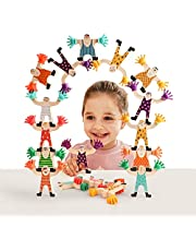 Top Bright Wooden Hercules Stacking Toys for Kids Boys Girls, Building Blocks Balancing Game Set for Toddlers 3 4 5 Years Old - 12 Pcs