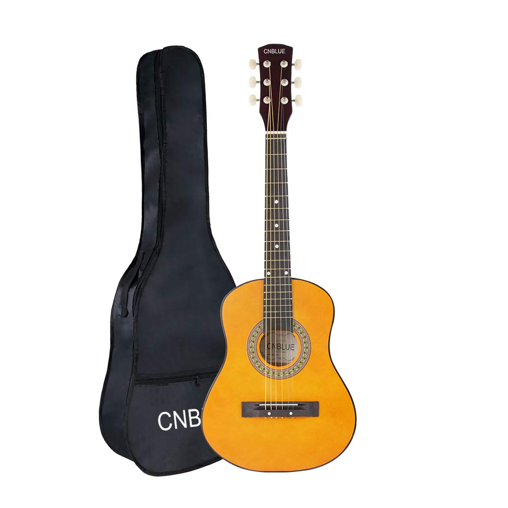 Acoustic Guitar 30 Inch 1/2 Size Guitar Starter Kits Children Student Steel String Acoustic Guitar(Yellow) Xu Zhou Lan Hua Wen Hua Ke Ji You Xian Gong Si CB-GD30AGY