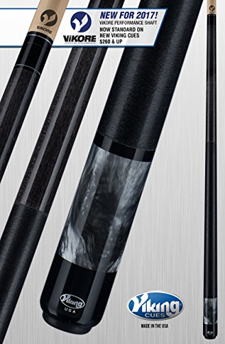 Viking A285 Pool Cue Stick Smoke Stain Northwoods Maple Smoke Premium Pearl Sleeve Quick Release Joint ViKORE Shaft 18, 18.5, 19, 19.5, 20, 20.5, 21 oz. (21)