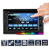 """Audiopipe 6.2"""" DVD/CD Fixed Panel Receiver bluetooth AM/FM USB/SD Remote"""