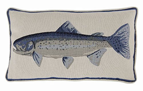 (Mud Pie Home Decor Piped Wool Fish Tapestry Throw)