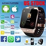 US Seller !! DZ09 Bluetooth Smart Watch Camera SIM Slot For HTC Samsung Android Phone (Fast Shipping)