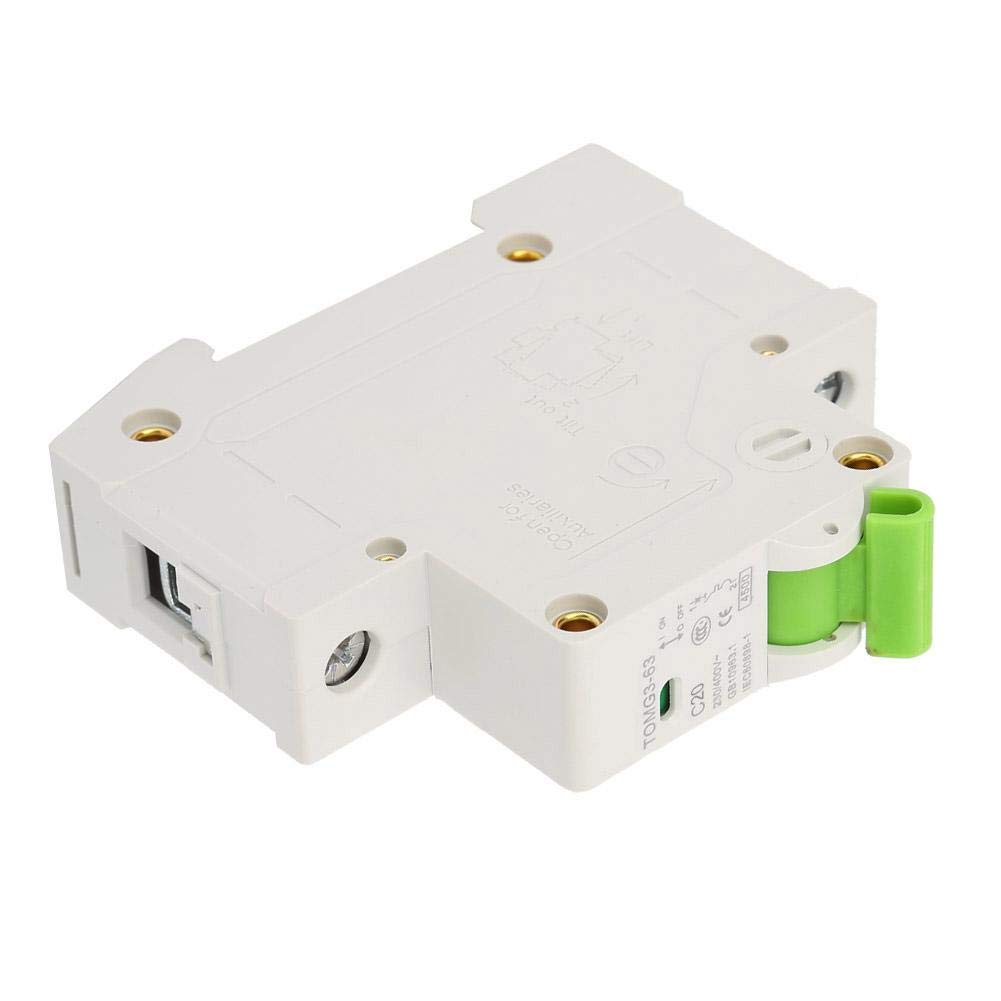 20A Circuit Breaker TOMG3-63 1P C-Type Miniature Circuit Breaker Leakage Protection Air Switch