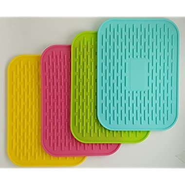 6  X 8  Silicone Pot Holder, Heat Insulated Pad, Trivet Mat, Cup Drying Mat , Tableware Pad Coasters, Baking Gadget- Waterproof, Non-slip, Trivet, Tableware Pad Coasters, Set of 4 By UHQ