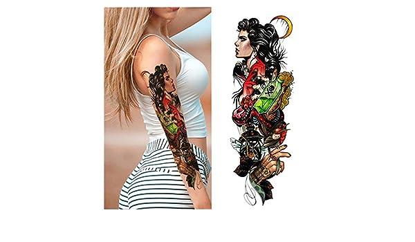 7pcs Pieza tatuaje etiqueta engomada del tatuaje de la Luna Llena ...