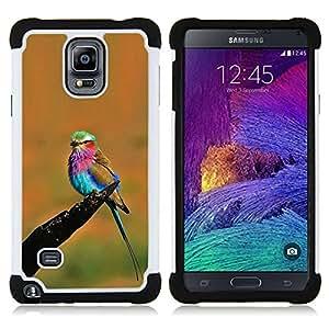 - orange vibrant colorful bird summer - - Doble capa caja de la armadura Defender FOR Samsung Galaxy Note 4 SM-N910 N910 RetroCandy