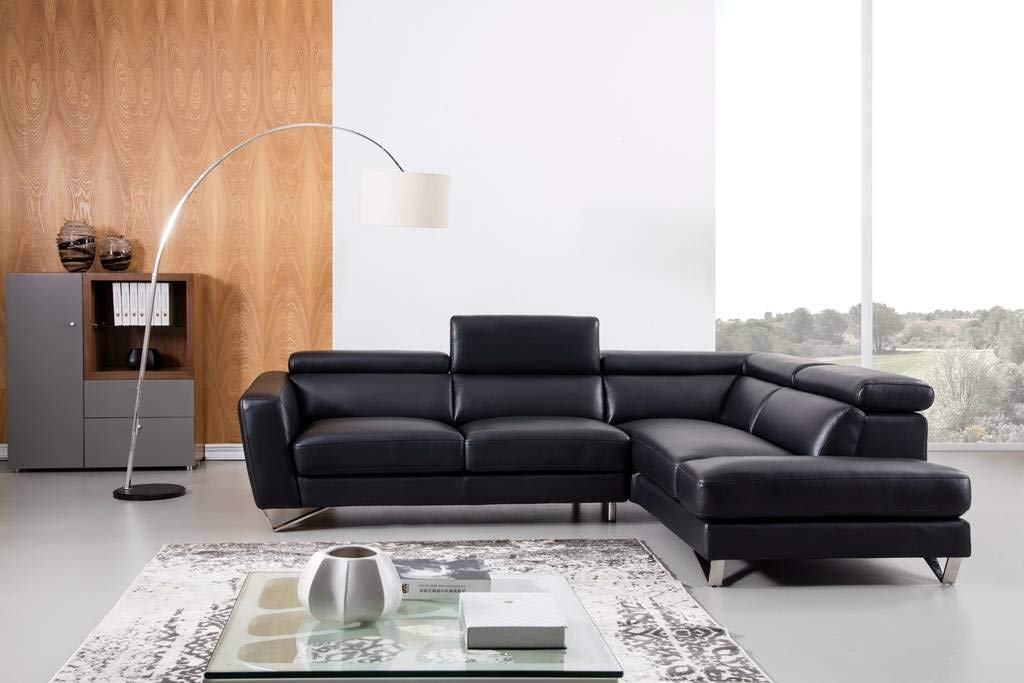 Amazon Com Greatime S2201 Top Grain Genuine Leather Sectional Sofa