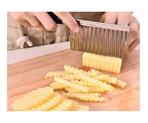 Crinkle Mushroom - Aszune Crinkle Chip Cutter,Crinkle Cutter Potato wavy Knife Vegetable Cutter Tool