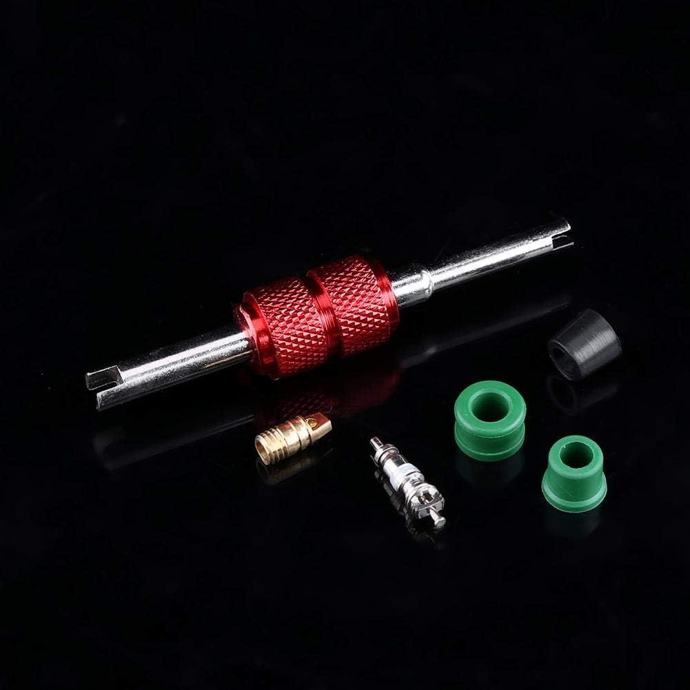 FTVOGUE 71pcs Air Condition Repair Kit Repair Tool+10pcs Valve Cores+50pcs Hose Gaskets+10pc Valves with Storage Box